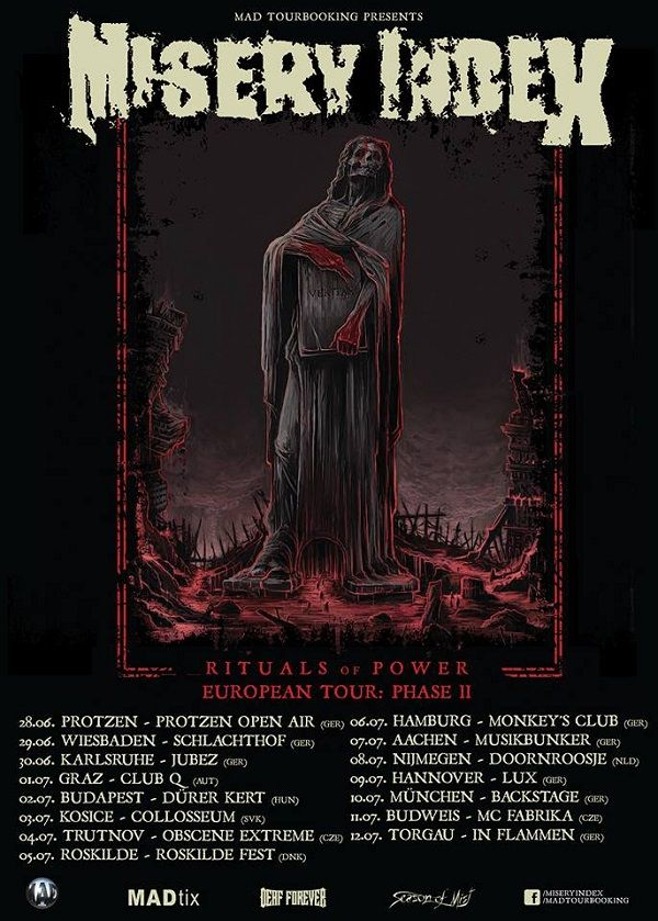MISERY INDEX announce new European tour dates – Kronos Mortus News
